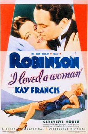I Loved a Woman - 1933 Theatrical Poster