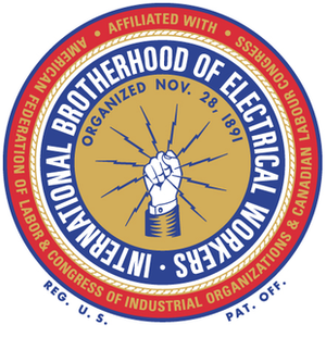 International Brotherhood of Electrical Workers - Image: International Brotherhood of Electrical Workers (emblem)