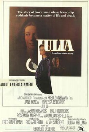Julia (1977 film) - Theatrical release poster by Richard Amsel