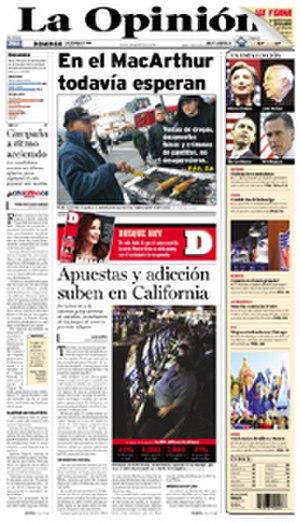 La Opinión - Image: La Op cover 2 3 08 low