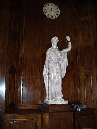 Rhode Island Supreme Court - Image: Lady Liberty in the Rhode Island Supreme Court