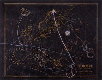 George Brecht - Untitled (Blackboard map of Europe) from the series Land Mass Translocations, 1970, private collection, Vaduz