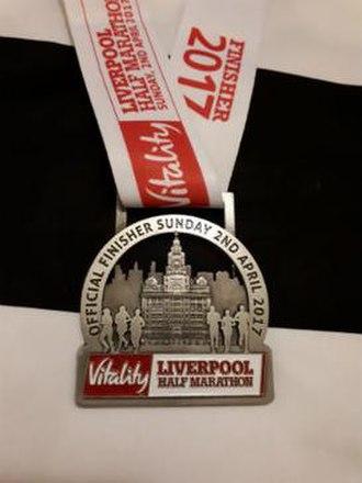 Liverpool Half Marathon - Finishers Medal from the 2017 Liverpool Half Marathon