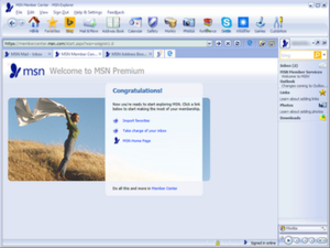 MSN Explorer version 11.65 running on Windows 10