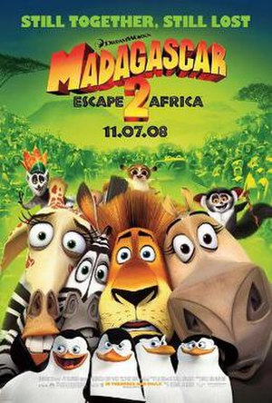 Madagascar: Escape 2 Africa - Theatrical release poster