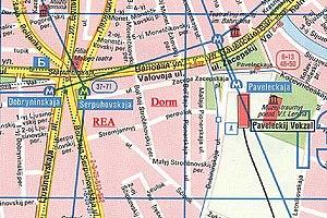Plekhanov Russian University of Economics - Map of PRUE Campus