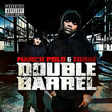 Marco Polo & Torae, 'Double Barrel', front artwork, Apr 2009.jpg