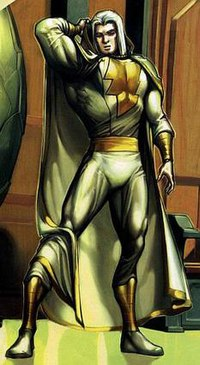 Portion of a panel from The Trials of Shazam! #2 (November 2006) featuring Marvel. Art by Howard Porter.