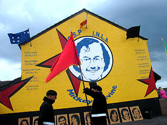 Michael Devine (hunger striker) - Mural depicting Mickey Devine