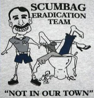 Police brutality in the United States - Image: Mike Chitwood Scumbag Eradication Team