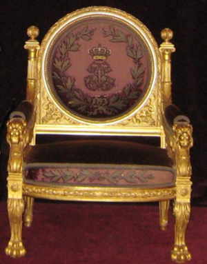 Succession to the Monegasque throne - Throne used by the sovereign of Monaco