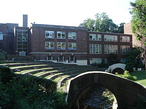 Montclair High School (New Jersey) - The school's amphitheatre on the eastern side of the main building, where graduations, concerts, and other events are held