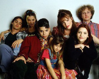 My So-Called Life - From left to right, Jared Leto as Jordan Catalano, A. J. Langer as Rayanne Graff, Wilson Cruz as Rickie Vasquez, Lisa Wilhoit as Danielle Chase, Devon Odessa as Sharon Cherski, Claire Danes as Angela Chase and Devon Gummersall as Brian Kraków