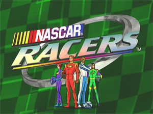 NASCAR Racers - The opening title screen for NASCAR Racers