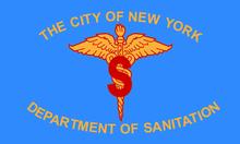 Departamento de Saneamento da Cidade de Nova York flag.png