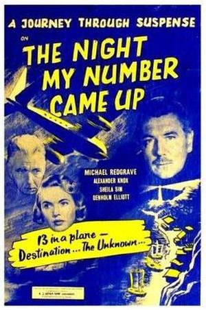The Night My Number Came Up - UK release poster