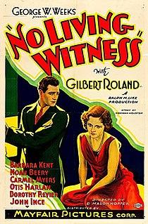 <i>No Living Witness</i>