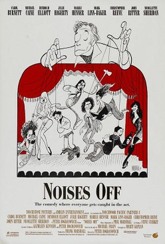 Noises Off (film) - Theatrical release poster by Al Hirschfeld