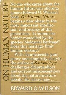 <i>On Human Nature</i> 1978 book by E. O. Wilson