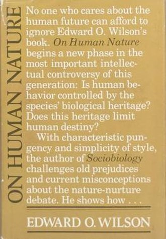 On Human Nature - Cover of the first edition