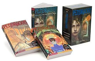 Pendragon: Journal of an Adventure through Time and Space - First, second, and third installments along with the box set casing