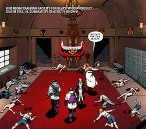 Red Room (comics) - Interior of the Red Room Art by David López