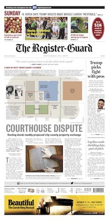 Register-Guard front page 2017