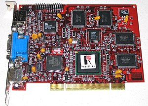 Rendition (company) - Rendition V2200 reference card (chip is unlabeled)