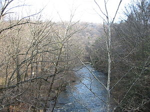 Columbia Trail - The south branch of the Raritan River seen from the Ken Lockwood trestle.