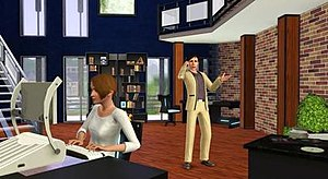 Sims using the new postmodern items available ...