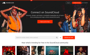 SoundCloud rap - Homepage of the website SoundCloud where the microgenre originated