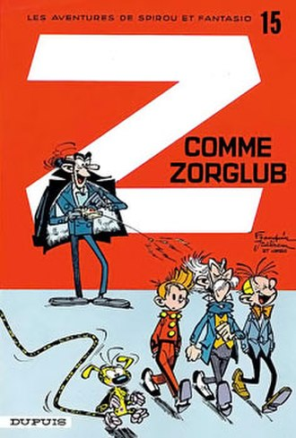 Z comme Zorglub - Cover of the Belgian edition