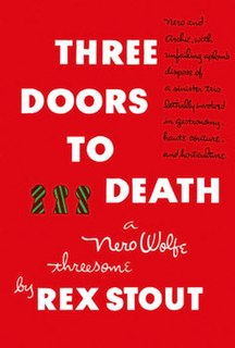 <i>Three Doors to Death</i> book by Rex Stout