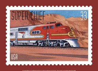 All Aboard! 20th Century American Trains - Image: Superchiefstamp