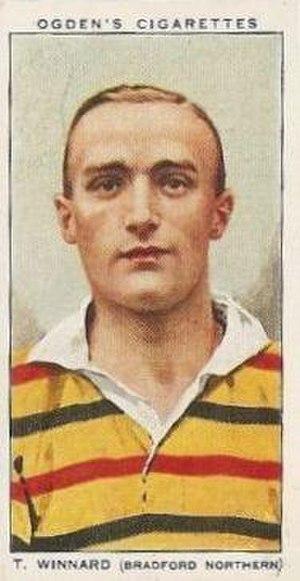 Tom Winnard - Ogden's Cigarette card featuring Thomas Winnard