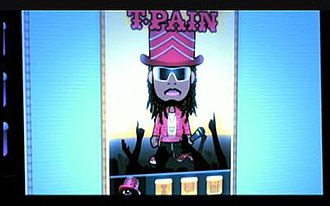 Download (song) - Animated T-Pain in the music video.