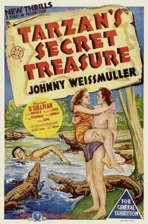 Tarzan's Secret Treasure - theatrical poster