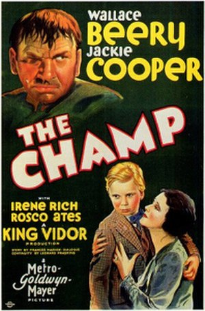 The Champ (1931 film) - Theatrical release poster