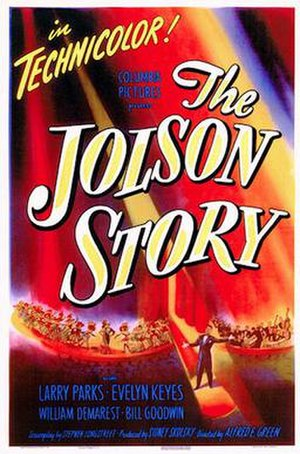 The Jolson Story - Theatrical release poster