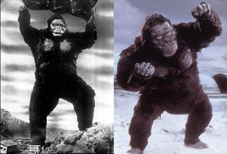 King Kong - The two depictions of Kong in the Toho films.