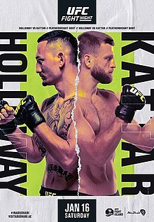 UFC on ABC: Holloway vs. Kattar Fight Poster