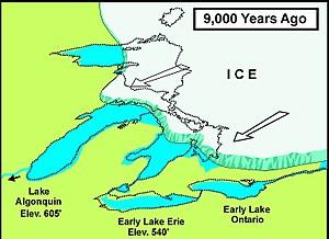 Calumet Shoreline - Glacial Lake Chicago when the Calumet Shoreline formed