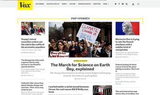Vox (website) - Image: Vox homepage