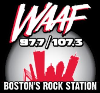 WAAF (FM) - Image: WAAF 97.7 107.3 logo