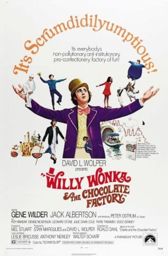 Willy Wonka & the Chocolate Factory - Theatrical release poster