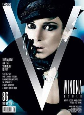 V (American magazine) - Winona Ryder on V (November 2013) cover.