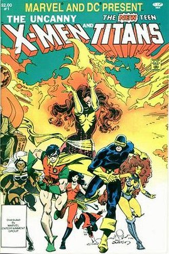 The Uncanny X-Men and The New Teen Titans - Front cover art for The Uncanny X-Men and The New Teen Titans.  Art by Walt Simonson and Terry Austin.