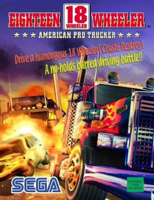 18 Wheeler: American Pro Trucker - Arcade flyer
