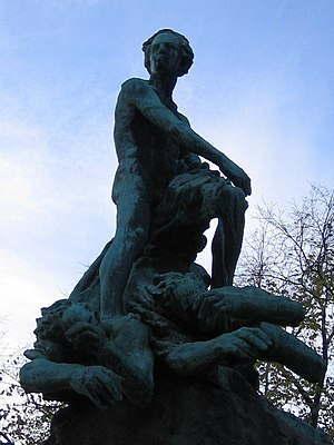Statue of Niels Henrik Abel in Oslo (former Ch...