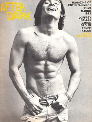 After Dark (magazine) - Actor Nicholas Cortland on the March 1972 cover